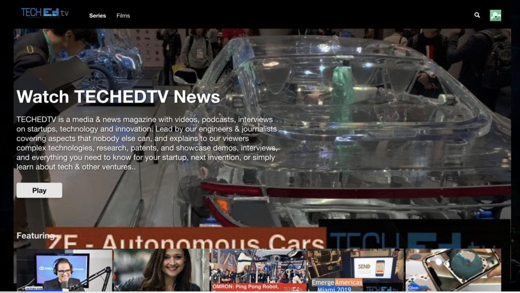 TECHEDTV User Interface